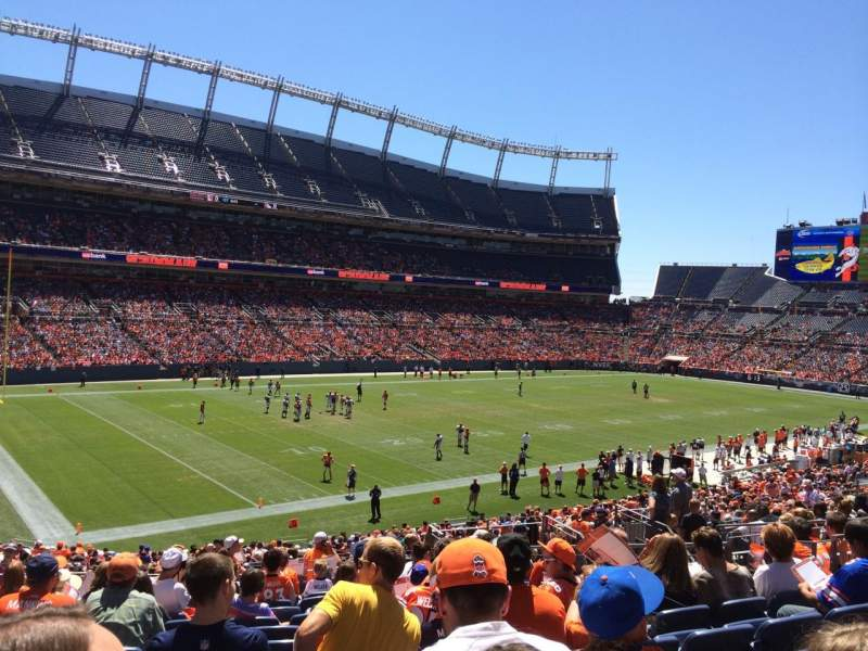 Seating view for Broncos Stadium at Mile High Section 110 Row 36 Seat 13