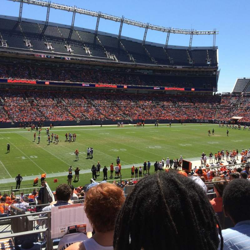 Seating view for Sports Authority Field at Mile High Section 108 Row 33 Seat 25