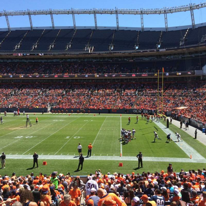 Seating view for Sports Authority Field at Mile High Section 101 Row 27 Seat 10