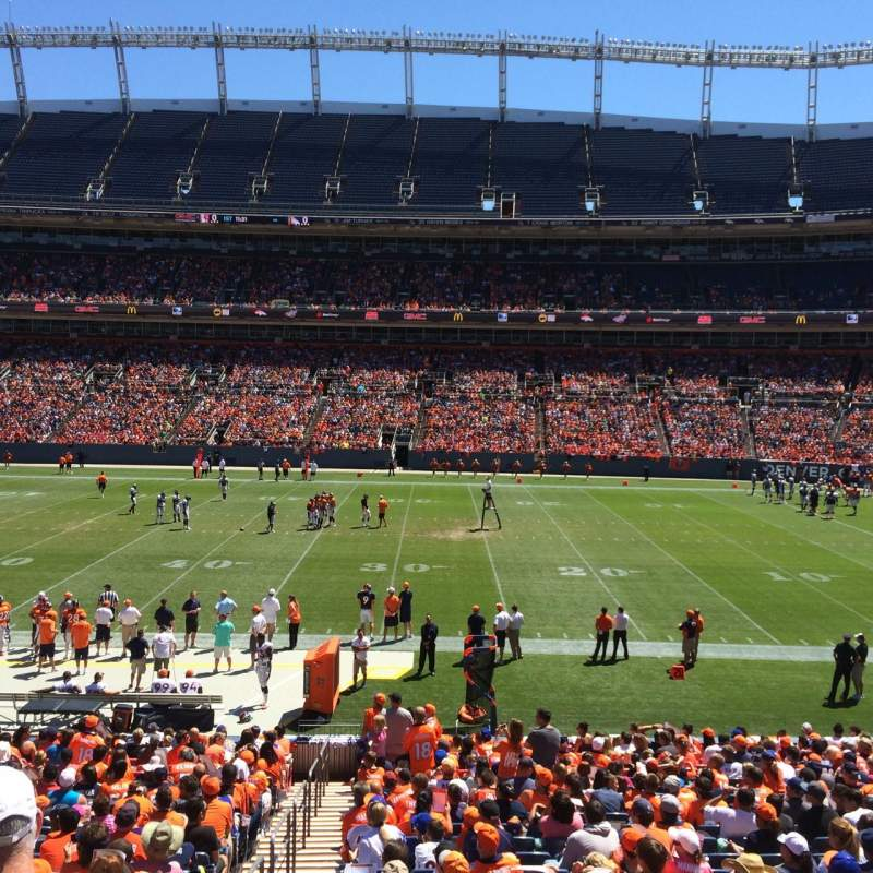 Seating view for Sports Authority Field at Mile High Section 103 Row 24 Seat 13