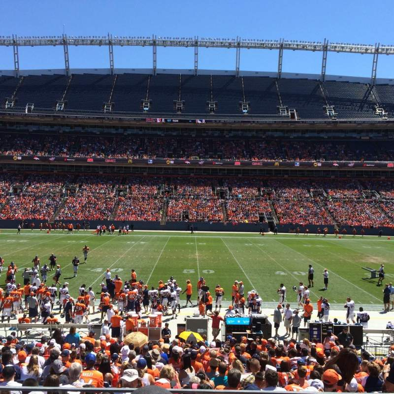 Seating view for Sports Authority Field at Mile High Section 105 Row 21 Seat 10