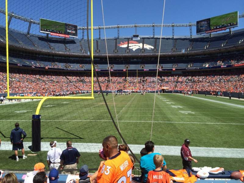 Seating view for Sports Authority Field at Mile High Section 131 Row 5 Seat 7