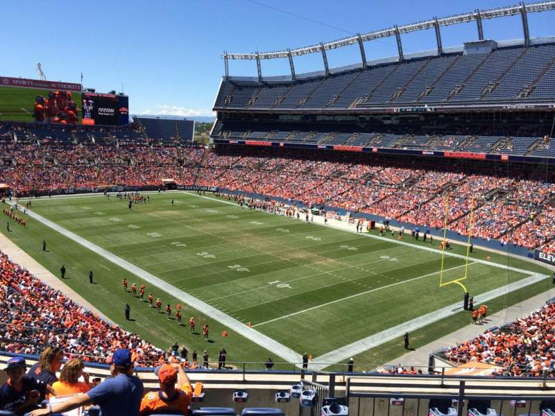 Seating view for Sports Authority Field at Mile High Section 328 Row 7 Seat  8