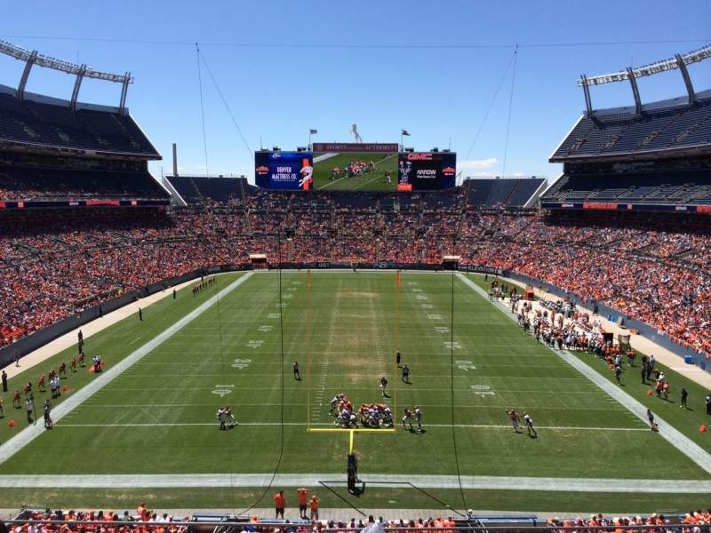 Seating view for Sports Authority Field at Mile High Section 323 Row 3 Seat 11