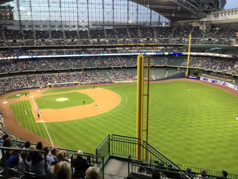 Seating view for Miller Park Section 404 Row 15 Seat 4