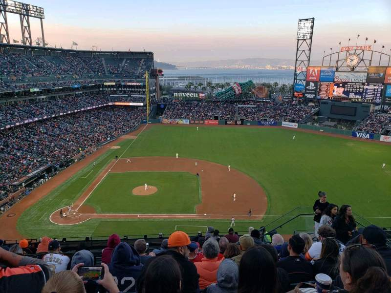 Seating view for Oracle Park Section VR308 Row 8 Seat 8
