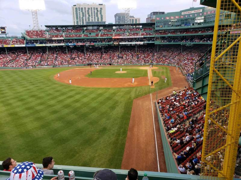 Seating view for Fenway Park Section Green Monster 1 Row 3 Seat 2