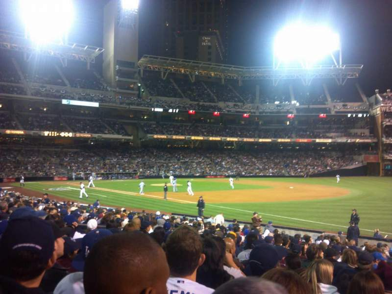 Seating view for PETCO Park Section 117 Row 25 Seat 12