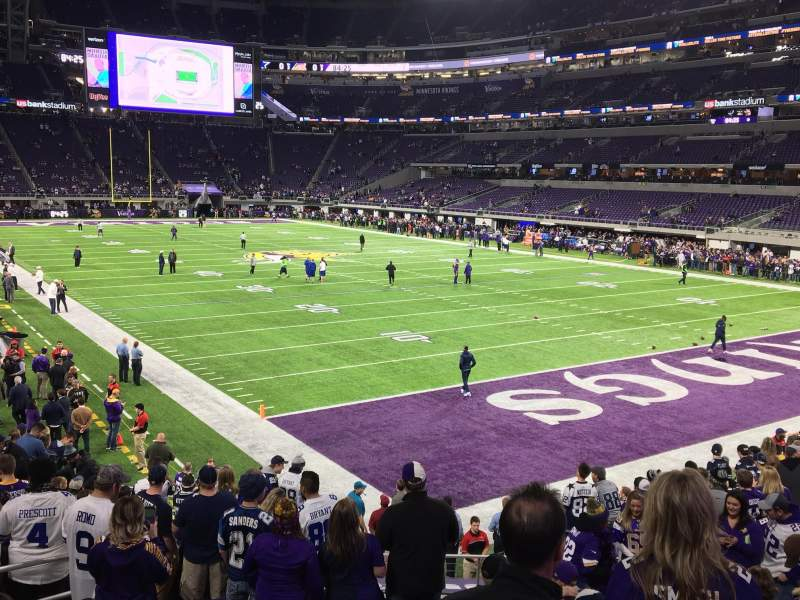 Seating view for U.S. Bank Stadium Section 101 Row 15 Seat 25 and 26