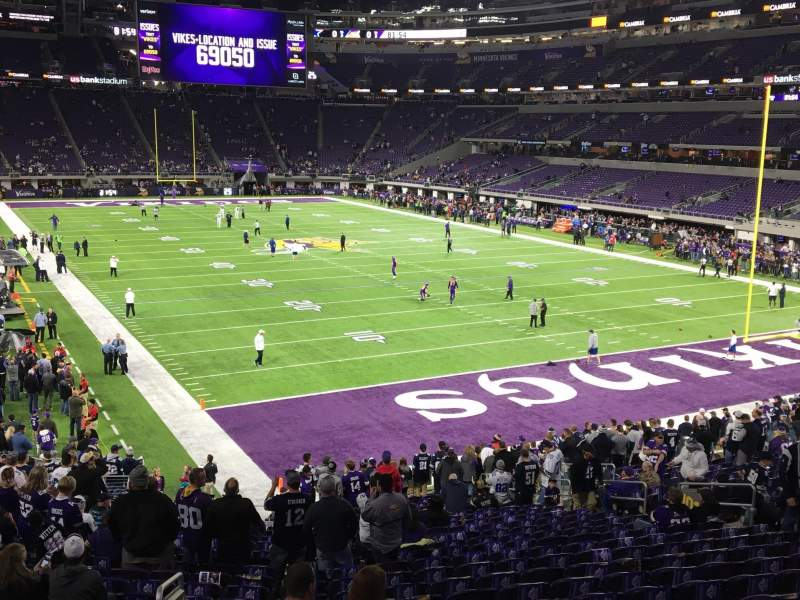 Seating view for U.S. Bank Stadium Section 101 Row 25 Seat 25