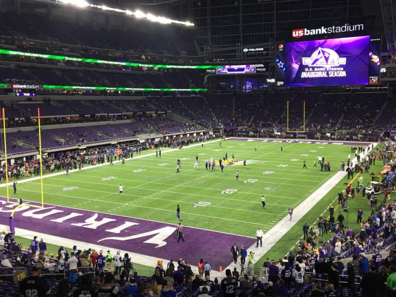 Seating view for U.S. Bank Stadium Section 116 Row 31 Seat 25