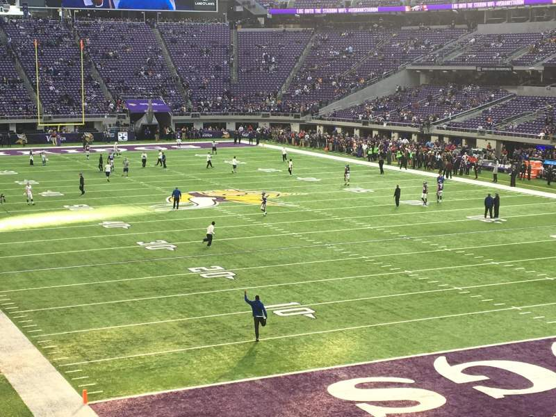 Seating view for U.S. Bank Stadium Section 143 Row 22 Seat 21