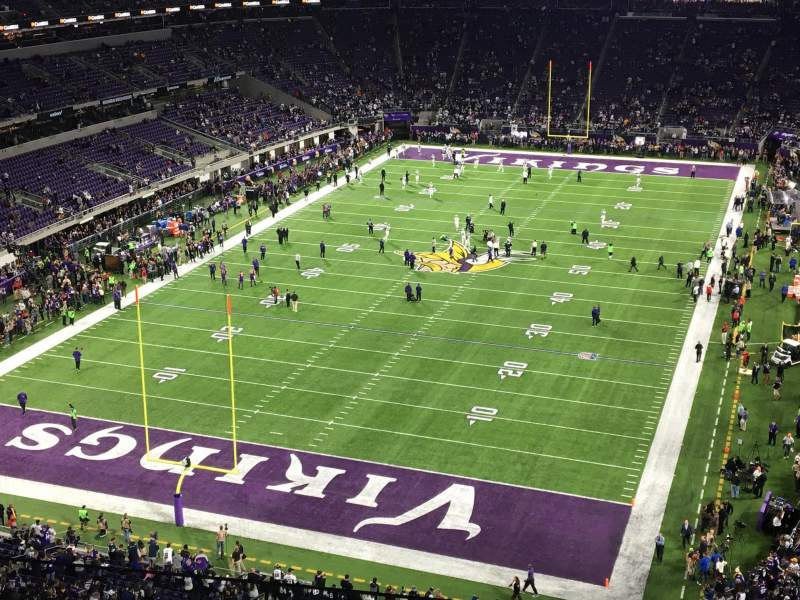 Seating view for U.S. Bank Stadium Section 324 Row C Seat 3
