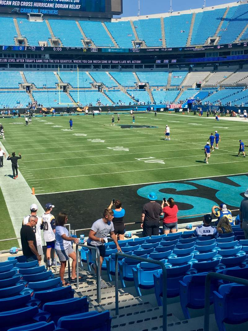Seating view for Bank of America Stadium Section 124 Row 14 Seat 2