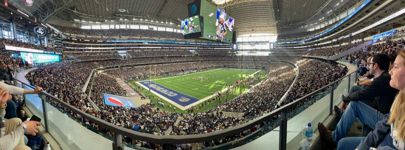 Seating view for AT&T Stadium Section 343 Row 1 Seat 13