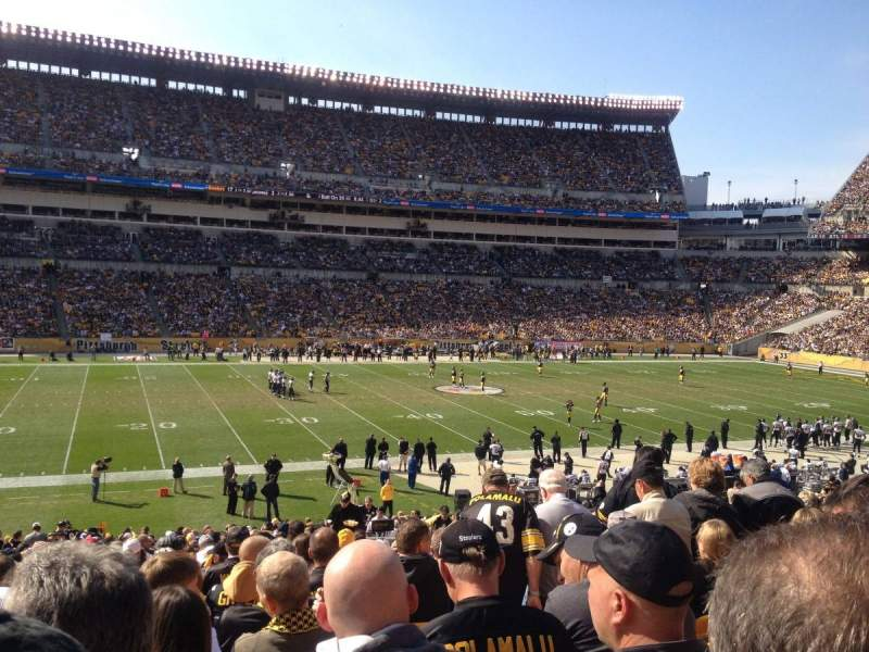 Seating view for Heinz Field Section 108 Row CC Seat 12