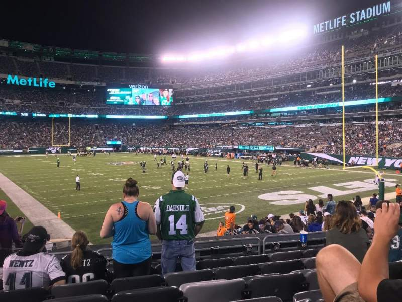 Seating view for MetLife Stadium Section 104 Row 15 Seat 18
