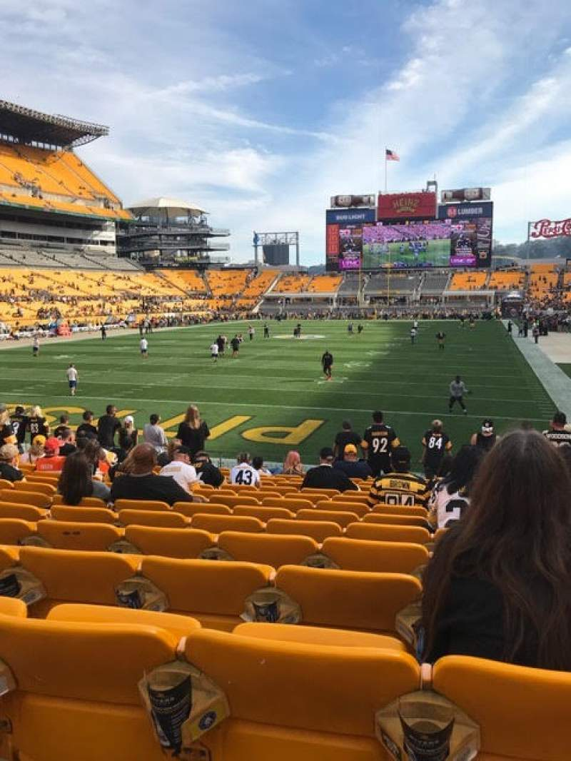 Seating view for Heinz Field Section 124 Row O Seat 5