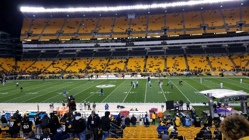 Seating view for Heinz Field Section 112 Row X Seat 21