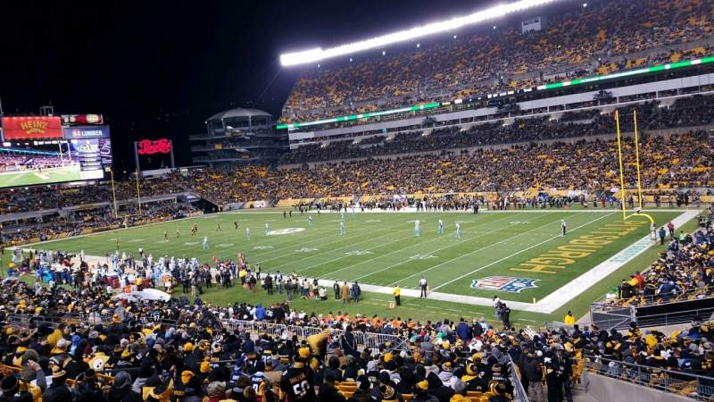 Seating view for Heinz Field  Section 117 Row GG Seat 1