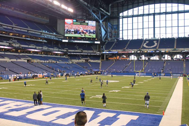 Seating view for Lucas Oil Stadium Section 124 Row 11 Seat 12