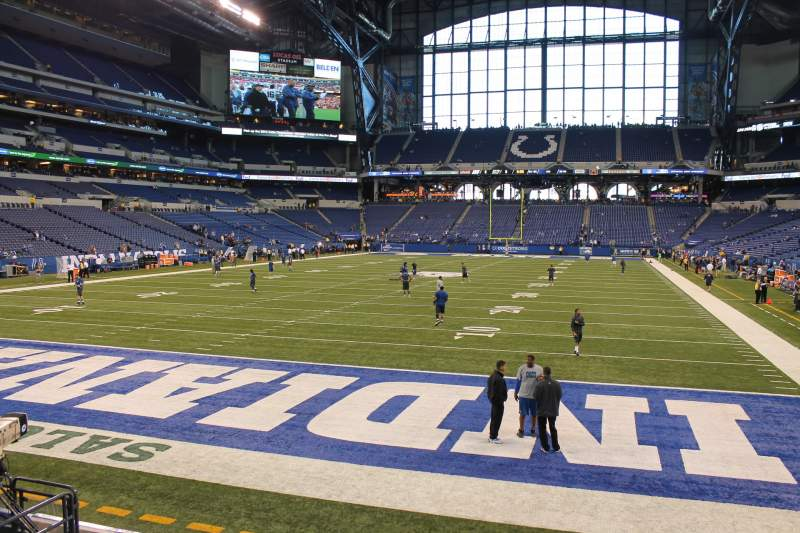 Seating view for Lucas Oil Stadium Section 125 Row 10 Seat 10