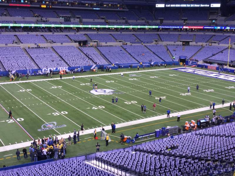 Seating view for Lucas Oil Stadium Section 343 Row 3 Seat 26