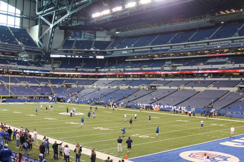 Seating view for Lucas Oil Stadium Section 105 Row 16 Seat 11