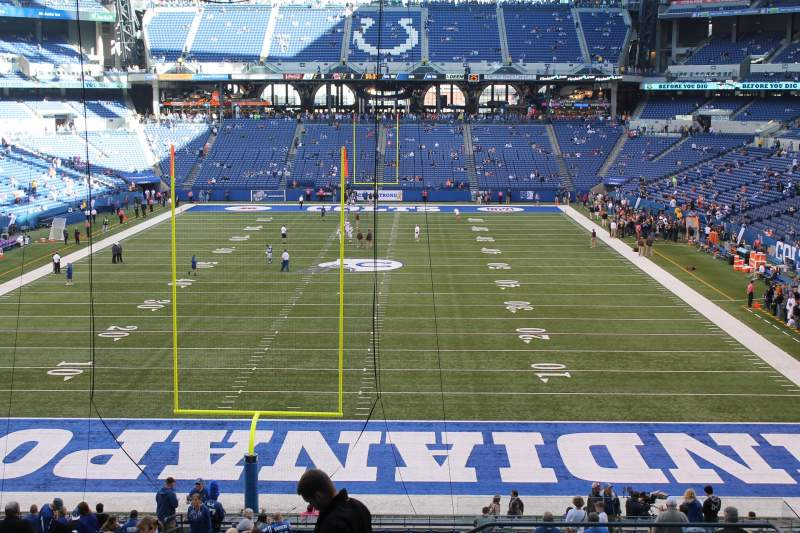 Seating view for Lucas Oil Stadium Section 227 Row 12 Seat 3