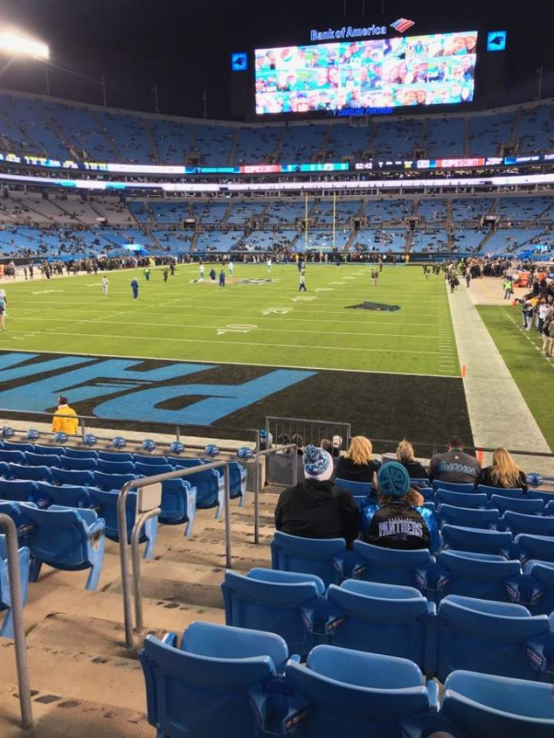 Seating view for Bank of America Stadium Section 119 Row 10 Seat 21
