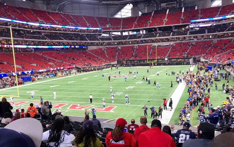 Seating view for Mercedes-Benz Stadium Section 135 Row 23 Seat 5
