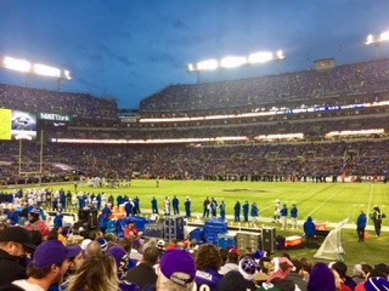 Seating view for M&T Bank Stadium Section 152 Row 13 Seat 11