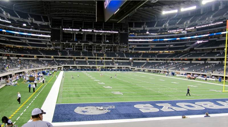 Seating view for AT&T Stadium Section 150 Row 16 Seat 20