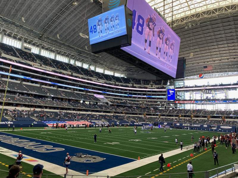 Seating view for AT&T Stadium Section 144 Row 10 Seat 18
