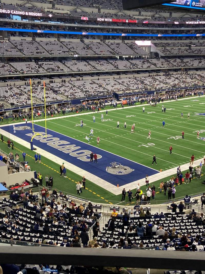 Seating view for AT&T Stadium Section 343 Row 1 Seat 16