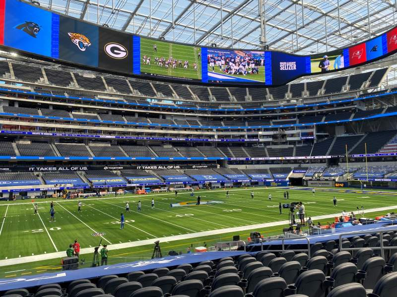 Seating view for SoFi Stadium Section C109 Row 16 Seat 9