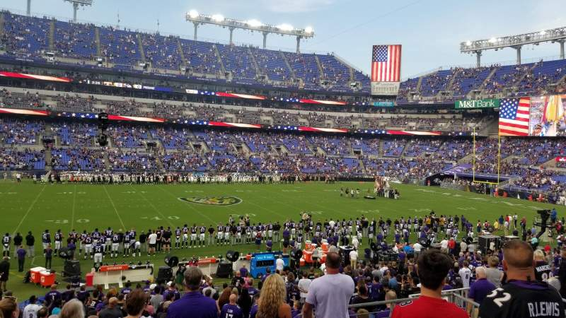 Seating view for M&T Bank Stadium Section 128 Row 25 Seat 7