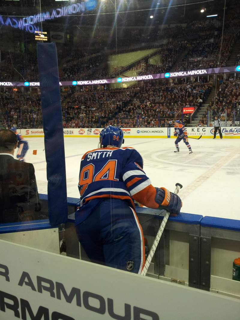 Seating view for Rexall Place Section 119 Row 3 Seat 7