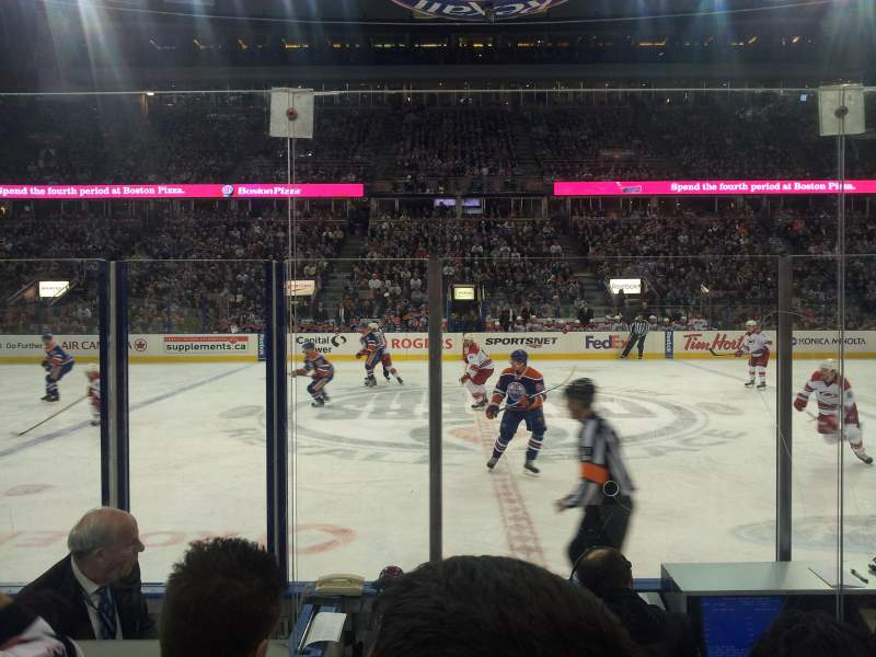 Seating view for Northlands Coliseum Section 101 Row 5 Seat 13