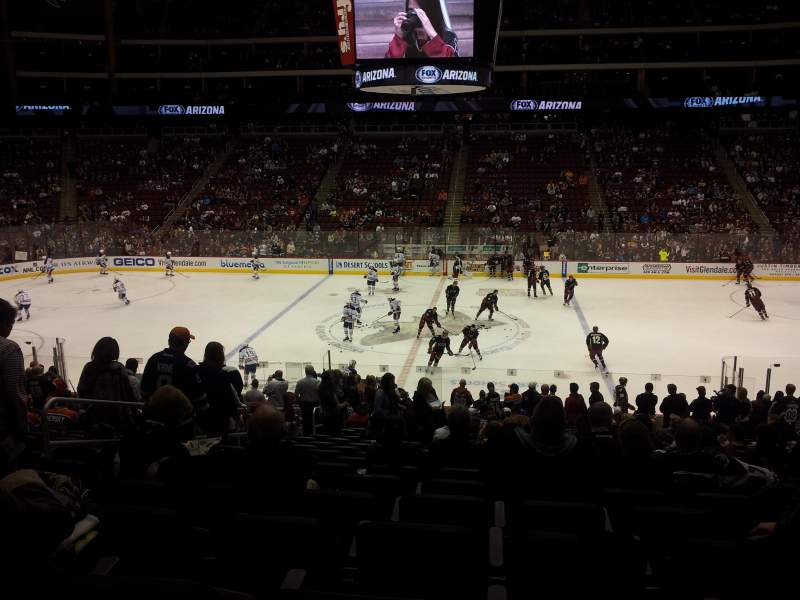 Seating view for Gila River Arena Section 122 Row w Seat 17