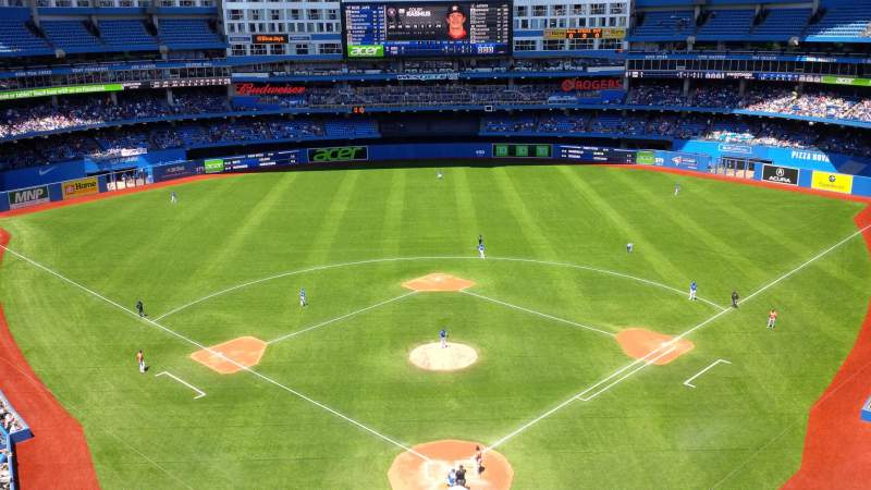Seating view for Rogers Centre Section 524 Row 6 Seat 5