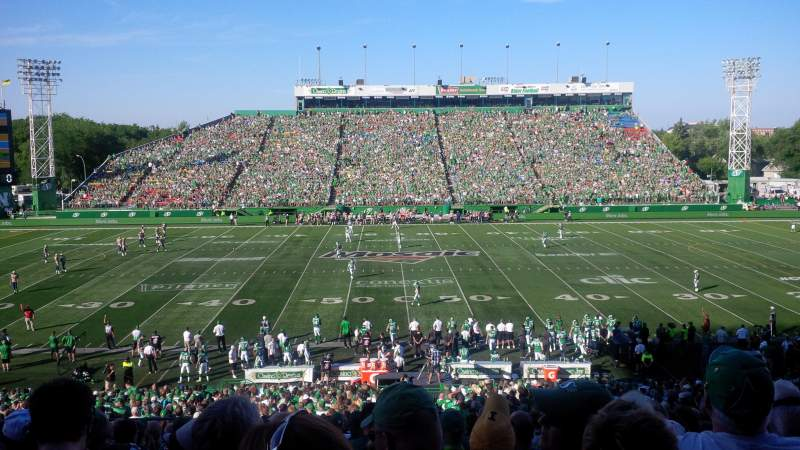 Seating view for Taylor Field (Regina) Section 41 Row 18 Seat 21