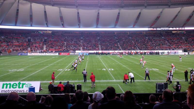 Seating view for BC Place Section 216 Row L Seat 9