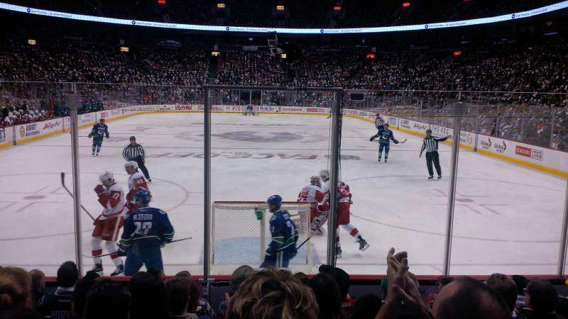 Seating view for Rogers Arena Section 111 Row 8 Seat 110