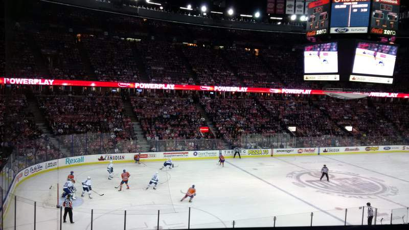 Seating view for Rexall Place Section 222 Row 21 Seat 9