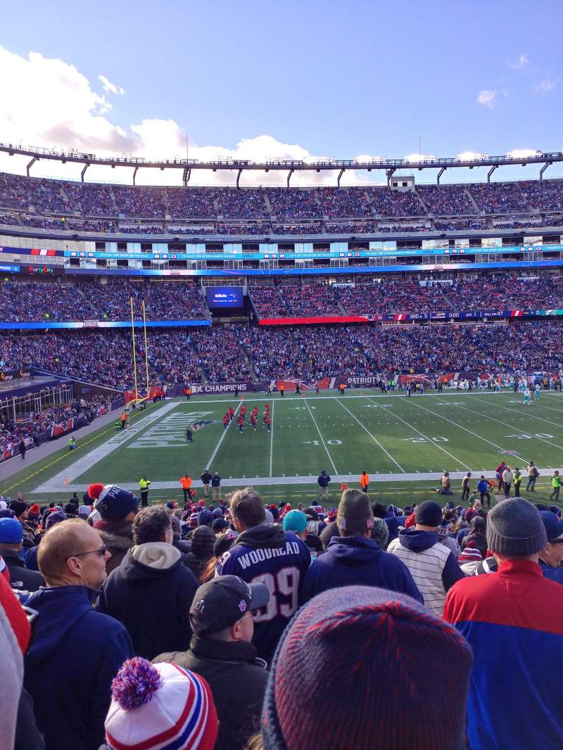 Seating view for Gillette Stadium Section 113 Row 30 Seat 7