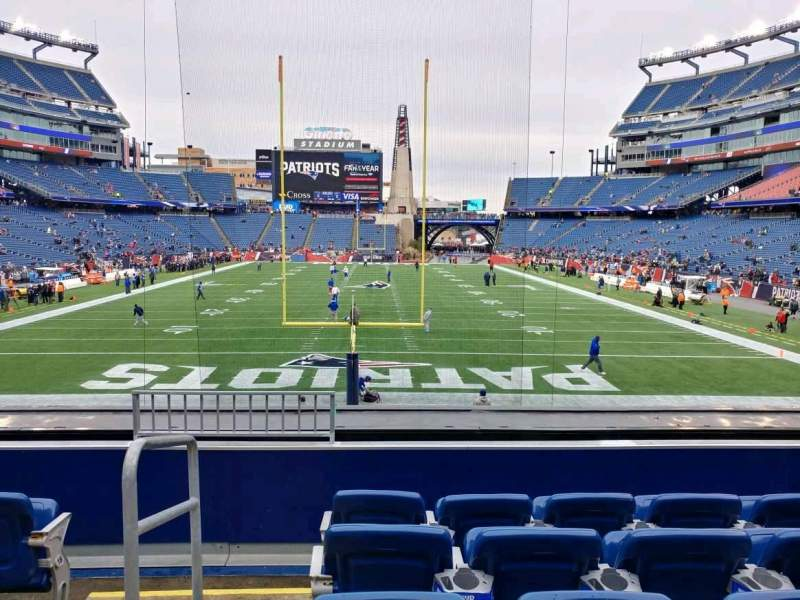Seating view for Gillette Stadium Section 120 Row 22 Seat 24