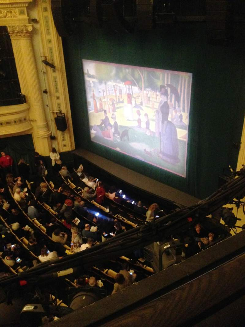 Seating view for Hudson Theatre Section Balcony R Row A Seat 20