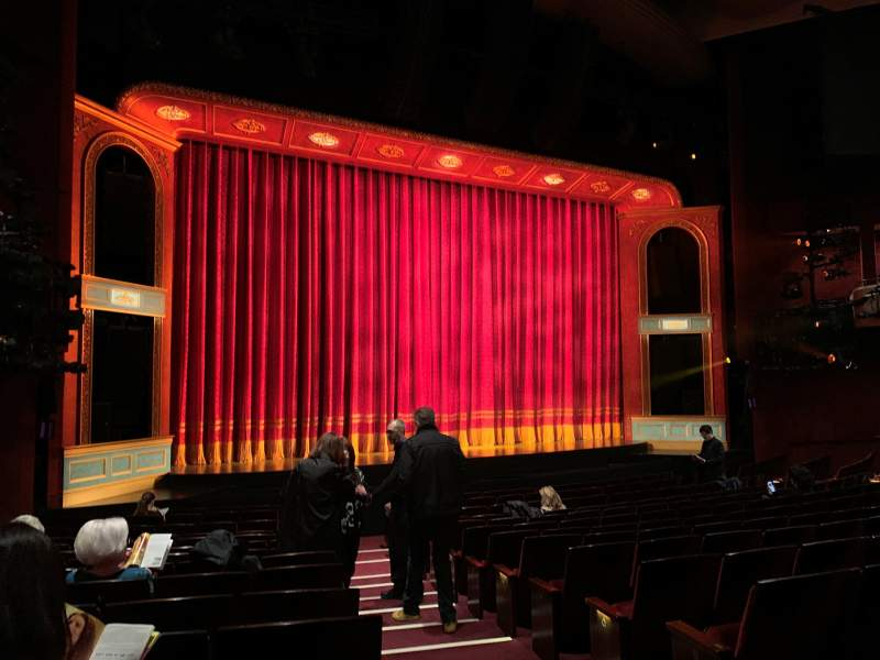 Seating view for Marquis Theatre Section Orchestra L Row P Seat 1