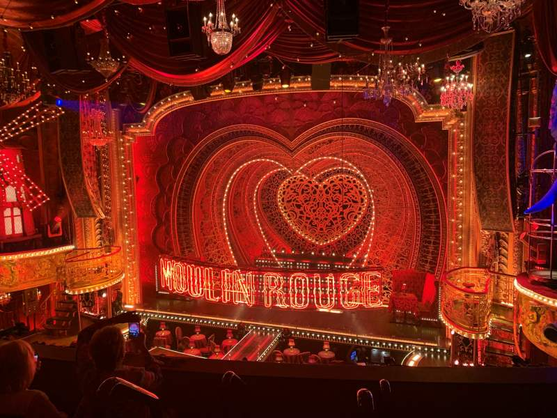 Seating view for Al Hirschfeld Theatre Section Mezzanine R Row D Seat 2